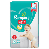 PAMPERS Pants vel.4 9-15kg Kalhotkové plenky 62 ks