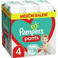 PAMPERS Pants vel.4 Plenkové kalhotky 9-15kg 176 ks