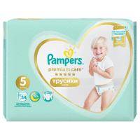 PAMPERS Premium Care Pants vel.5 Plenkové kalhotky 12-17kg  34 ks