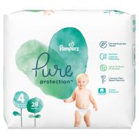 PAMPERS Pure Protect  Vel.4 Dětské pleny 9-14kg  28 ks