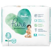 PAMPERS Pure Protect  Vel.3 Dětské pleny 6-10kg  31 ks