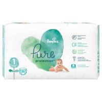 PAMPERS Pure Protect  Vel.1 Dětské pleny 2-5kg  35 ks