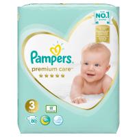 PAMPERS Premium Care, Velikost 3, Plenka 80 x, 6 kg-10 kg