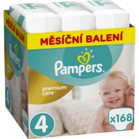 PAMPERS Premium Care Monthly 4 MAXI 8-14 kg 168 kusů