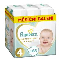 PAMPERS Premium Care měsíční balení 4 MAXI 9-14 kg 168 kusů
