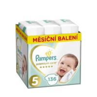 PAMPERS Premium Care měsíční balení 5 JUNIOR 11-16 kg 136 kusů