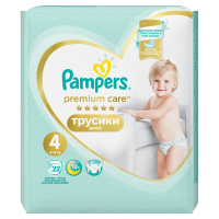 PAMPERS Premium Care Pants 4 MAXI 7-14 kg 22 kusů