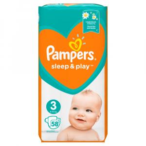PAMPERS Sleep&Play 3 MIDI 6 - 10 kg 58 kusů