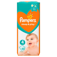 PAMPERS Sleep&Play V4, 50 Plenek, 9–14 kg