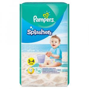 PAMPERS Splashers vel.3-4  Kalhotkové plenky do vody 12 ks