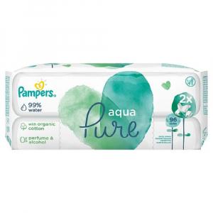 PAMPERS Vlhčené ubrousky  Aqua Pure 2x 48 ks