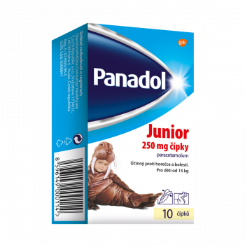 PANADOL Junior rektální čípky SUP 10 x 250 mg