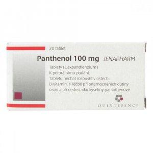 PANTHENOL 100 MG JENAPHARM  20X100MG Tablety