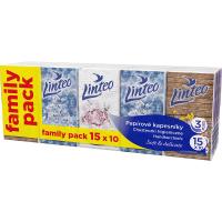 LINTEO Papírové kapesníky 3- vrstvé 15x10 ks