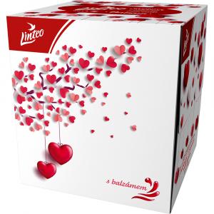 LINTEO Papírové kapesníky 3-vrstvé BOX Love 60 ks