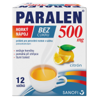 PARALEN Horký nápoj bez cukru 500 mg 12 sáčků