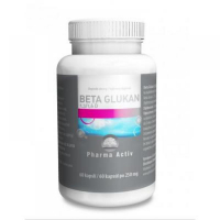 PHARMA ACTIV Beta Glukan 1,3/1,6 D čistý ovesný extrakt 60 kapslí