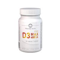 PHARMA ACTIV Vitamin D3 MAX 4000 I.U. 30 tablet