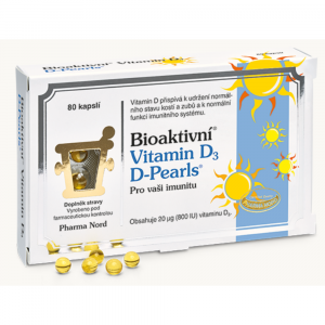 PHARMA NORD Bioaktivní vitamín D3 D-Pearls 80 kapslí