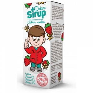 DOKTOR SIRUP Kalciový jahody s vanilkou 100 ml