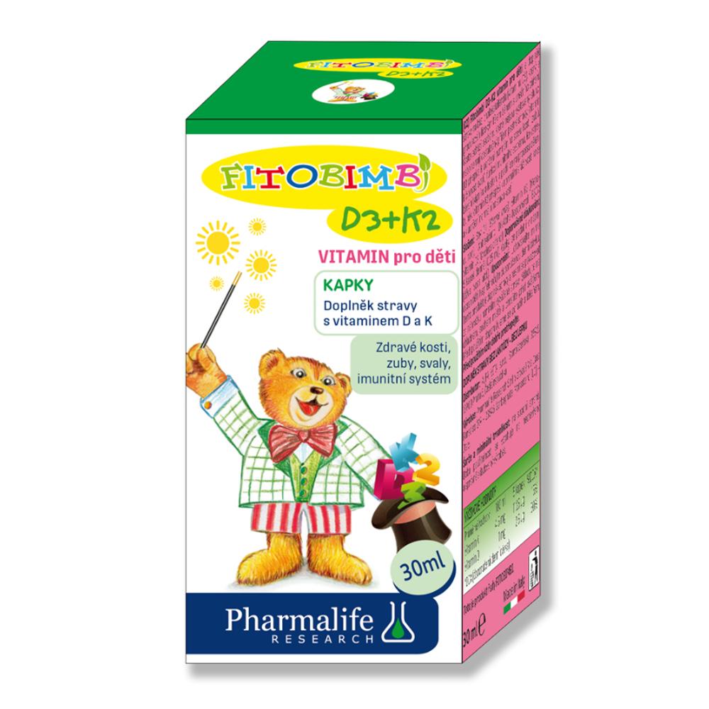 E-shop PHARMALIFE D3+K2 vitamín pro děti kapky 30 ml