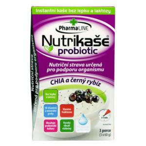 PHARMALINE Nutrikaše probiotic S chia a černým rybízem 3x60 g