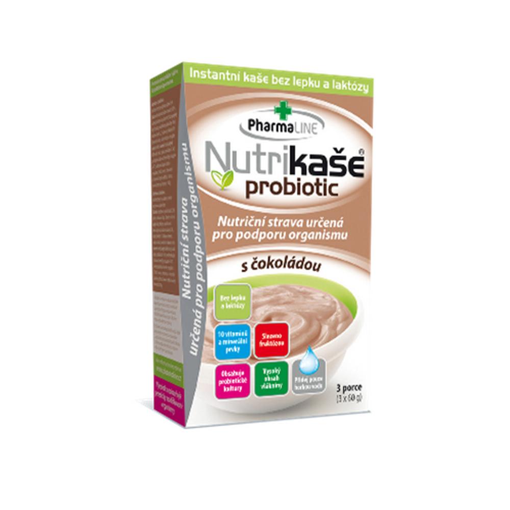 PHARMALINE Nutrikaše probiotic s čokoládou 180 g (3x60 g)