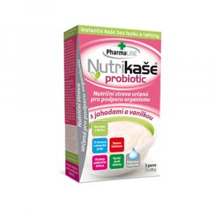 PHARMALINE Nutrikaše probiotic S jahodou a vanilkou 3x60 g
