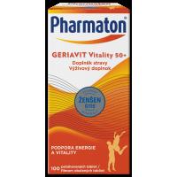 PHARMATON GERIAVIT Vitality 50+ tablety 100 kusů
