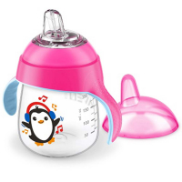 PHILIPS AVENT Hrneček pro první doušky Premium 260 ml růžový