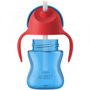 PHILIPS AVENT Hrnek s ohebným brčkem pro chlapce 200 ml
