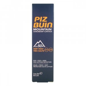 PIZ BUIN Mountain 2v1 opalovací krém a balzám na rty SPF50+ 22,3 ml