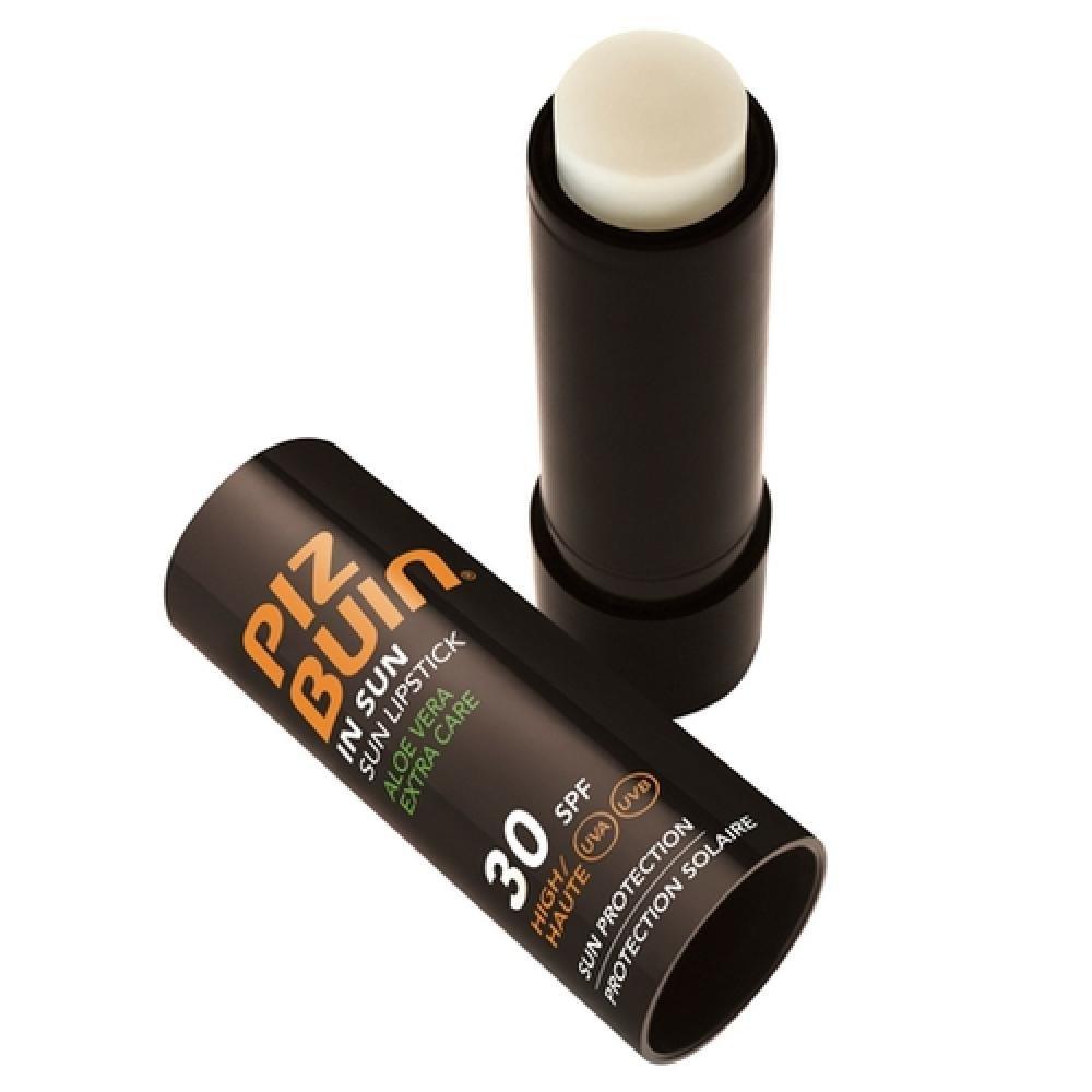 Piz Buin Sun Lipstick Aloe Vera SPF30 4,9g Ochranný balzám na rty SPF30
