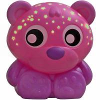 PLAYGRO usínací lampička medvídek s projektorem – růžový
