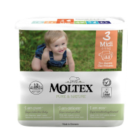 MOLTEX Pure & Nature Midi 4-9 kg  33 ks