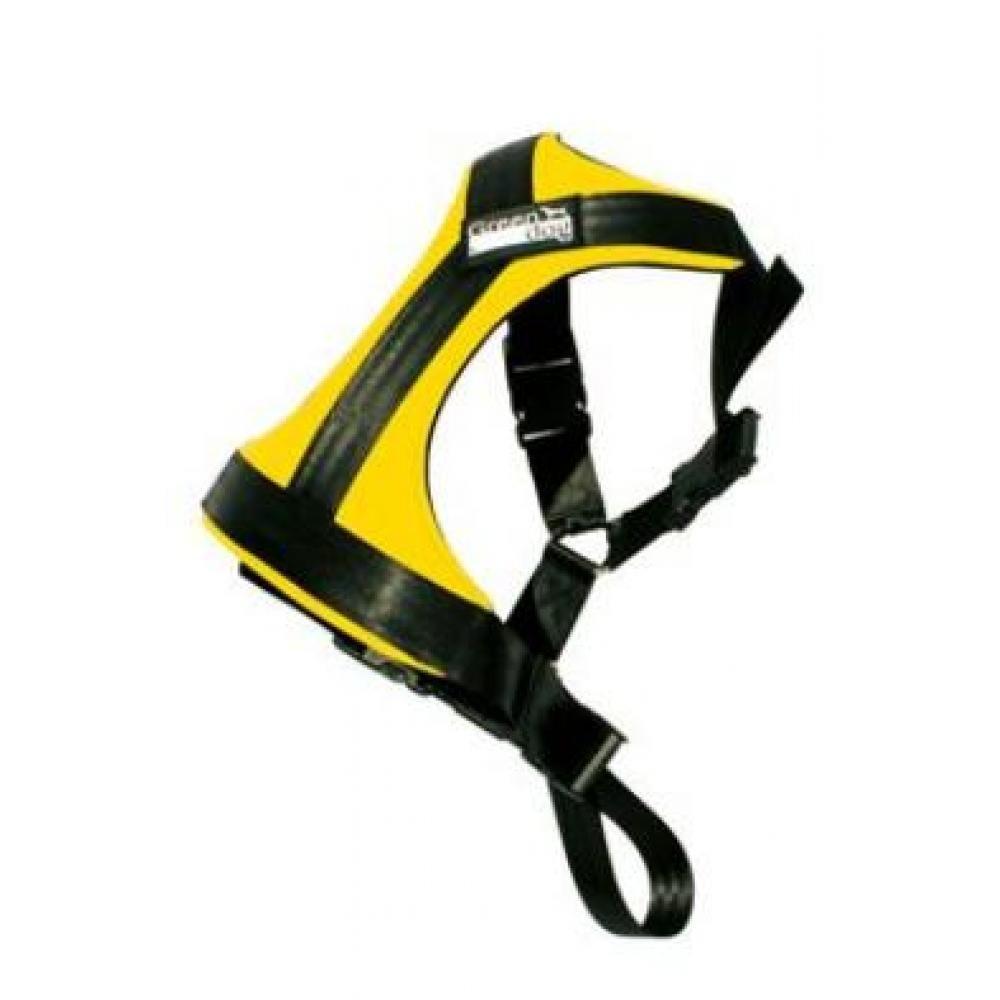 Postroj pes Bezpečnostní do auta GreenDog L žlutá