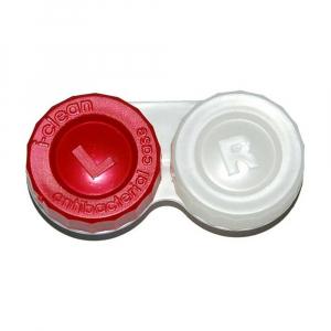POUZDRO Anti-bakteriální na kontaktní čočky 1 ks, Barva: Červená