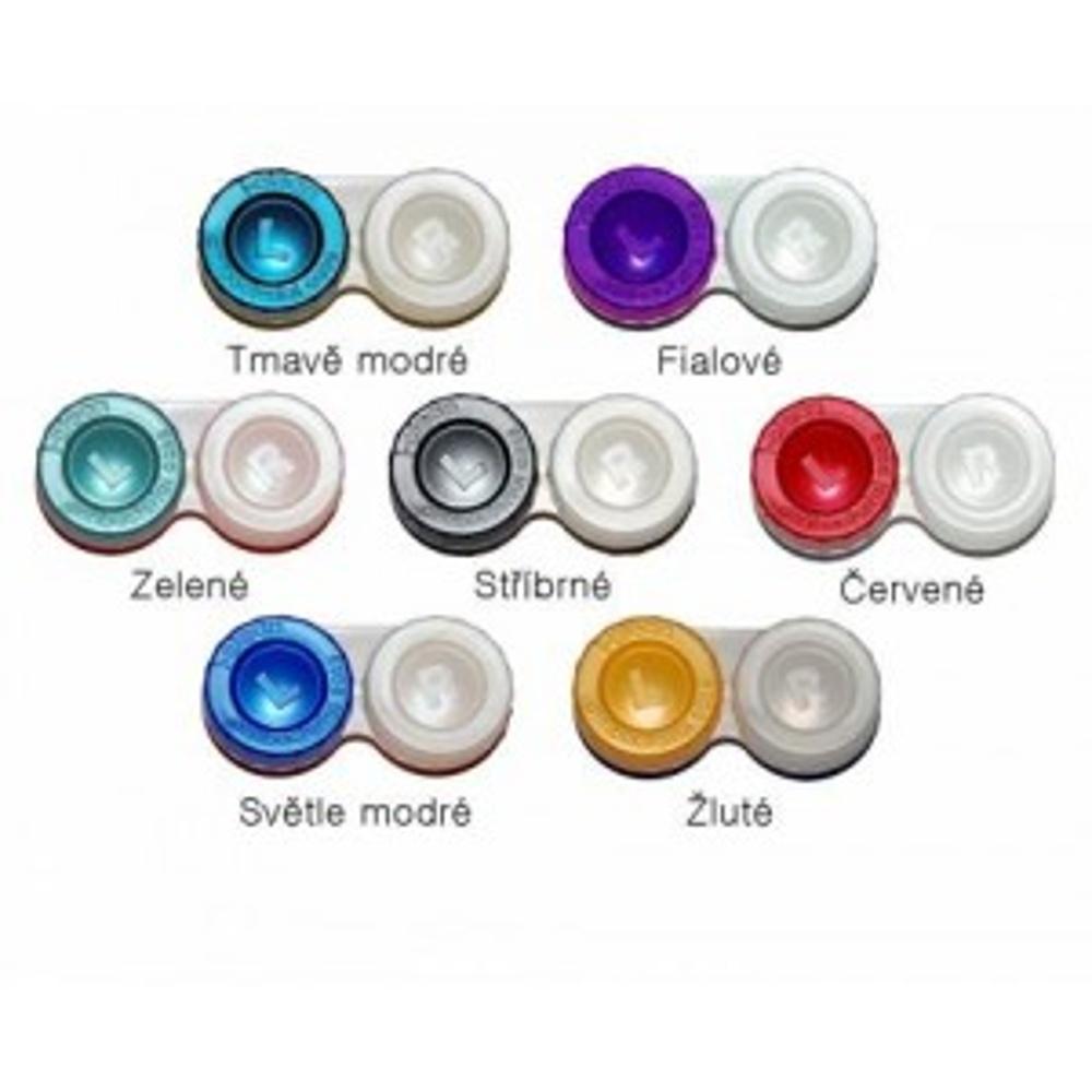 POUZDRO Anti-bakteriální na kontaktní čočky 1 ks, Barva: Tmavě modrá