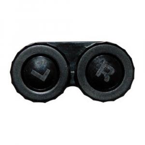 POUZDRO Na kontaktní čočky klasické jednobarevné, Barva: Černá