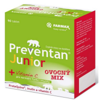 PREVENTAN Junior ovocný mix 90 tablet