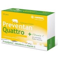 PREVENTAN Quattro s citronovou příchutí 12 tablet