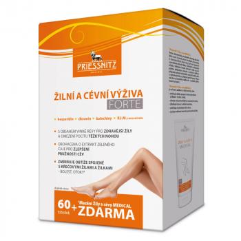 PRIESSNITZ Forte Žilní a cévní výživa 60 tobolek + Mazání na žíly a cévy De Luxe ZDARMA