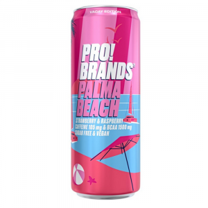 PROBRANDS BCAA drink PALMA BEACH jahoda a malina 330 ml
