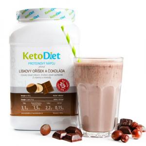 KETODIET Proteinový nápoj s příchutí lískový oříšek a čokoláda 35 porcí