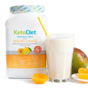 KETODIET Proteinový nápoj s příchutí meruňka a mango 35 porcí