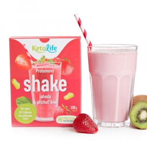 KETOLIFE Proteinový shake jahoda a příchuť kiwi 150 g