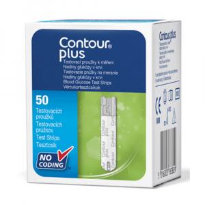Ascensia CONTOUR Plus Diagnostické proužky 50 kusů