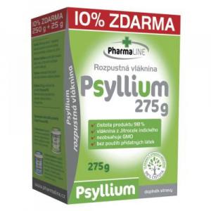 PHARMALINE Psyllium vláknina 250 g + 10 % ZDARMA