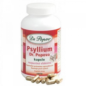 DR. POPOV Psyllium vláknina 120 kapslí