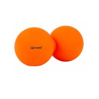 QMED Lacrosse duo ball dvojitý masážní míček oranžový